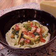 サーモンのチーズクリームうどんイメージ